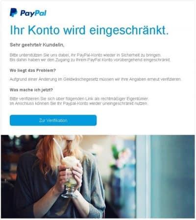 Paypal Email Bestätigen